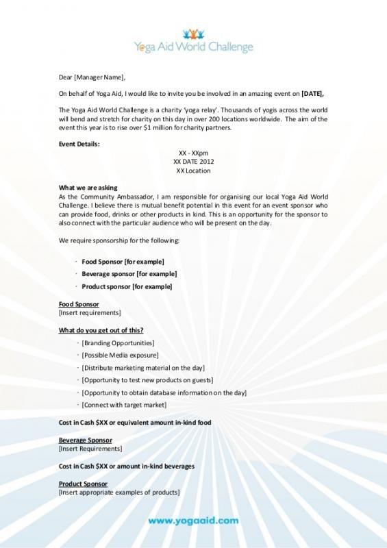 Sample Sponsorship Proposal Event Planning Proposal Sponsorship