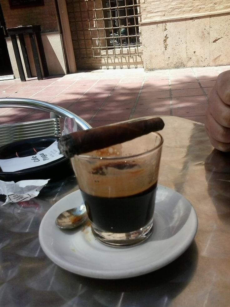 #Toscanello #cigar and a mid morning glass of #coffee #cigarlife #cigars