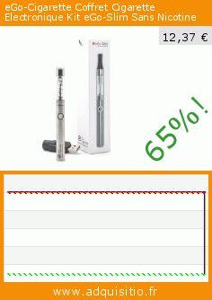 eGo-Cigarette Coffret Cigarette Electronique Kit eGo-Slim Sans Nicotine (Beauté et hygiène). Réduction de 65%! Prix actuel 12,37 €, l'ancien prix était de 34,90 €. https://www.adquisitio.fr/ego/cigarette-coffret-0
