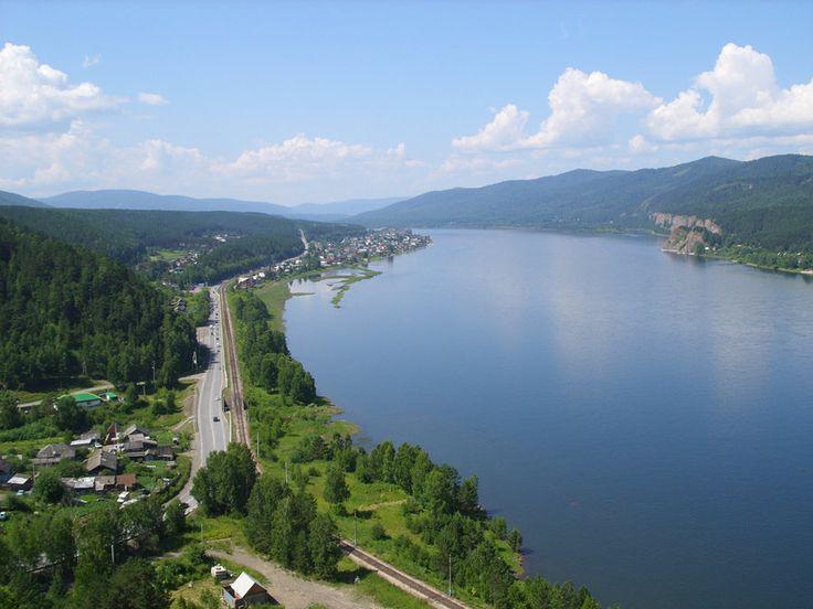 Russia, Krasnoyarsk, view of the Yenisei River