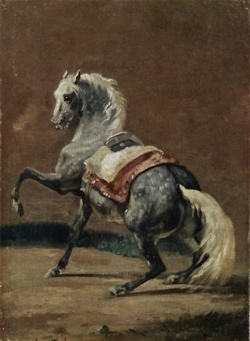Dappled Grey Horse by Theodore Gericault, 1812