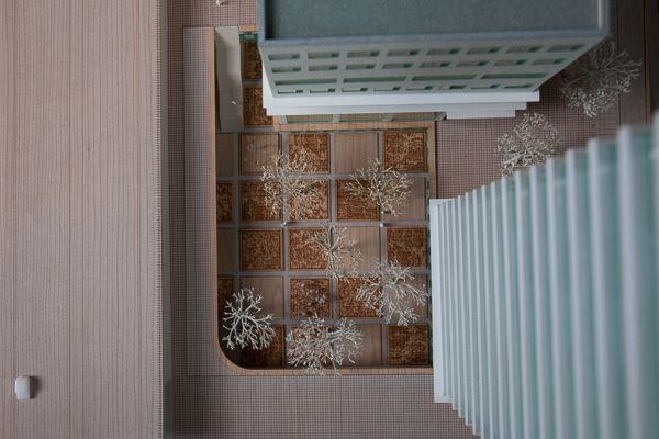Scale 1/200 #architecture #maquette #rotterdam #modelmaking #MBM #robbrechtendaem