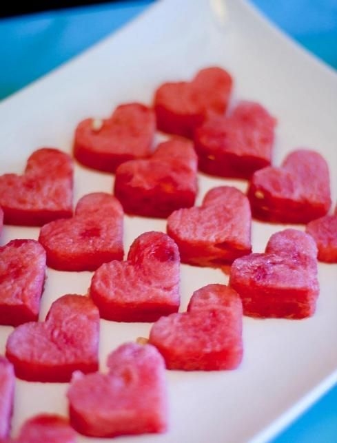 watermelon hearts for bridal shower!