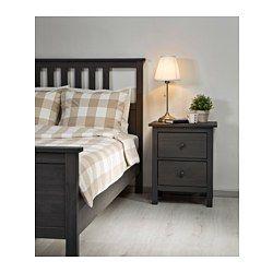 hemnes bed frame gray lury