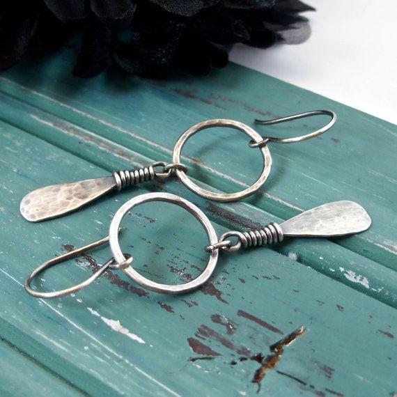 Sterling Silver Handmade Jewelry Hoop Earrings By Artnsouljewels Handm