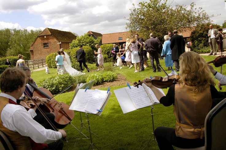 String Quartet playing in the Gardens