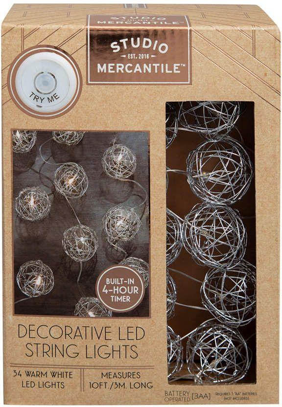 Studio Mercantile Led Silver 10ft String Lights