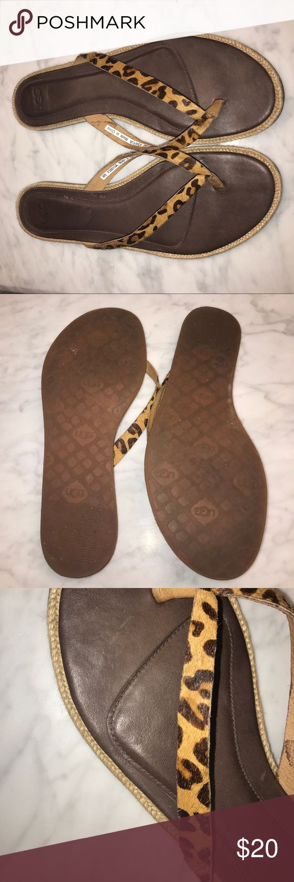 UGG Animal Print Flip Flop UGG Flip flip worn only a few times. UGG Shoes Sandals