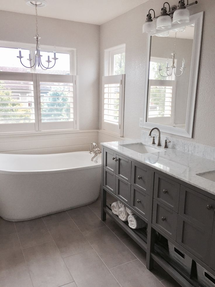 Farmhouse And French Country Inspired Bathroom Update