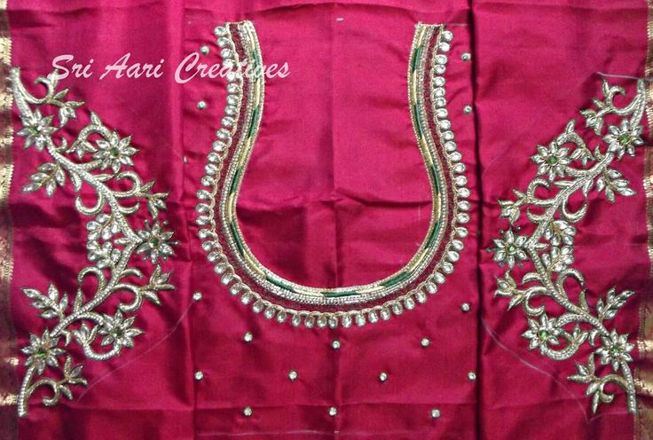 Our latest Bridal design,For orders contact Sri Aari Creatives - 9842995293