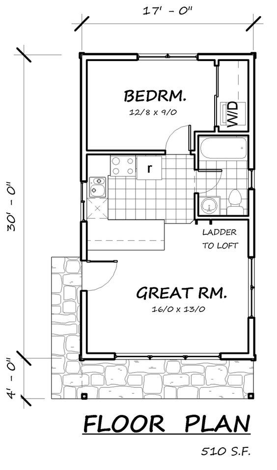 26 best 400 sq ft floorplan images on pinterest small for 16x32 cabin floor plans
