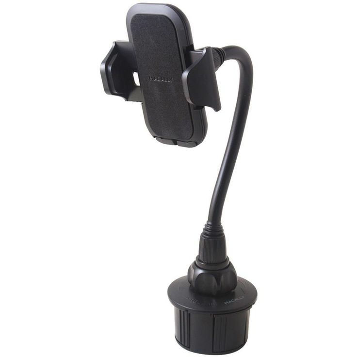 MACALLY MCup2XL Long-Neck Adjustable Automobile Cup-Holder Mount for Smartphones & Most. 8 long, flexible neck brings attached device closer to driver or navigator;  Soft holder grips & antiscratch padding;  Adjusts to desired viewing angle;  Adjustable grip fits devices 1.77-4.1 wide;  Swivel holder adjusts vertically or horizontally;  3 selectable holder positions fit even smartphones with protective cases ;  1-button, easy phone release;  Includes manual;MACALLY MCup2XL Long-Neck…
