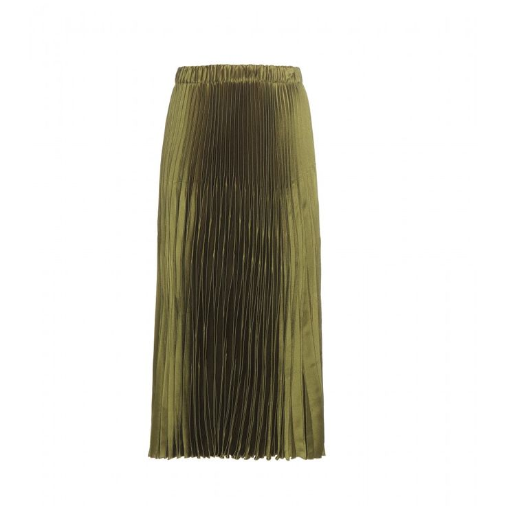 Gucci - Pleated satin skirt - The pleated design is made to move in its ladylike midi length. - @ www.mytheresa.com