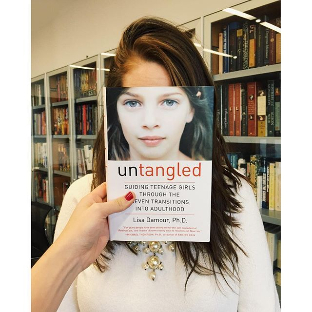 Nothing like a good #bookfacefriday! UNTANGLED pulls back the curtain on the teenage years and shows why your daughter's erratic and confusing behavior is actually healthy, necessary, and natural.  #bookface #fridayreads #bookstagram #igbooks #instaread #