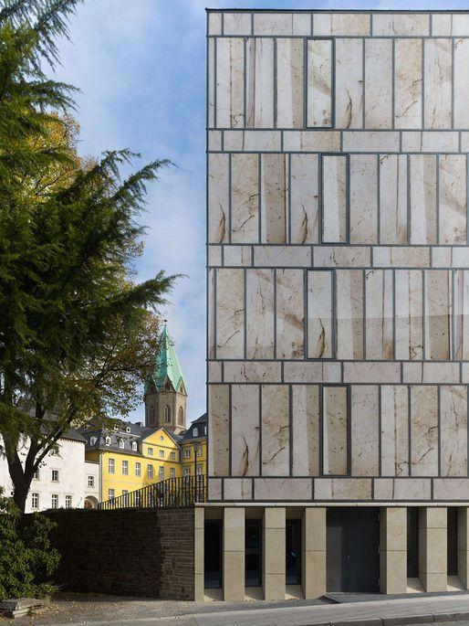 Detail of facade overlooking Klemensborn (Photo: Stefan Müller)