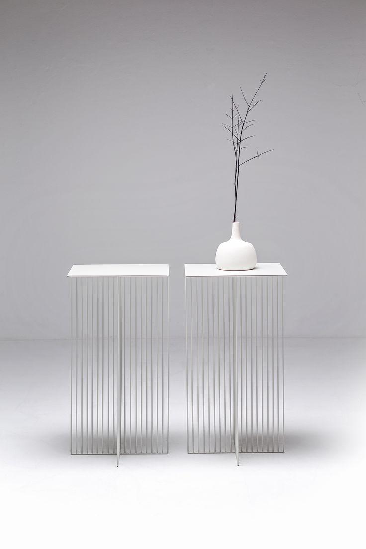 Square steel coffee #table ACCURSIO by La Cividina | #design Antonino Sciortino #white
