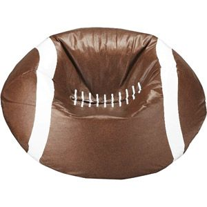 Walmart $28 football bean bag chair.