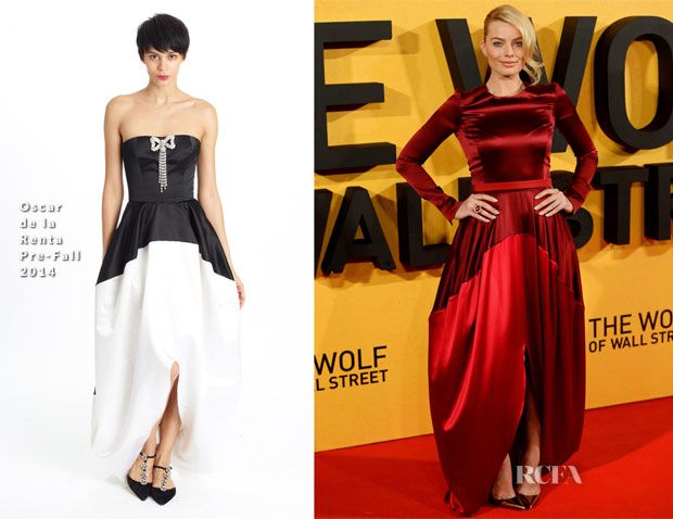Margot Robbie In Oscar de la Renta – 'The Wolf Of Wall Street' London Premiere
