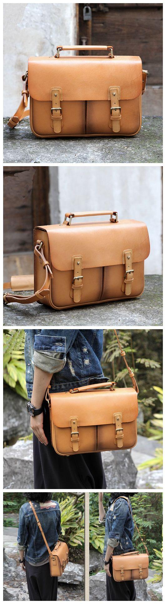Handcrafted Leather Messenger Men's Fashion Bag Handbag Leather Shoulder Bag 14088