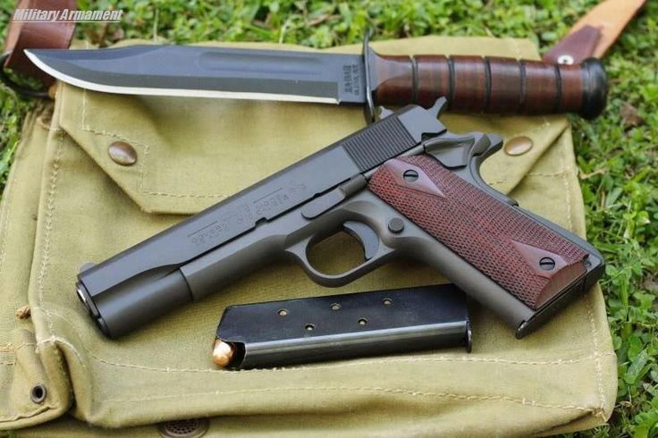 Colt 1911 and Kabar