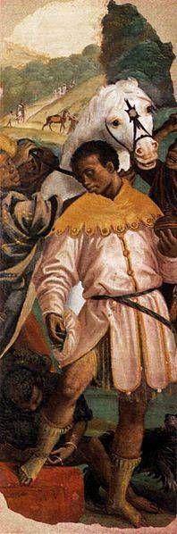O afresco rei mouro por Gaudenzio Ferrari 1544-1545