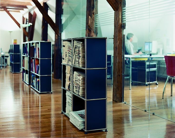 Usm Modular Furniture Create Your Own Library In Your Own Home With This Contemporary Bookshelf