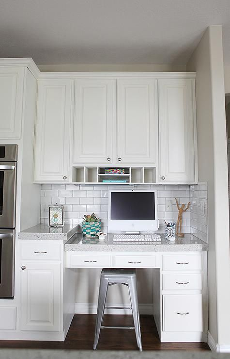 Small kitchen office - include space to charge phones etc.