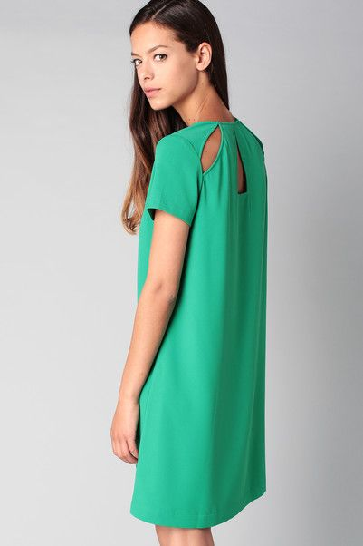 Robe verte dos ajouré Robinette Clo&Se by MonShowroom en promotion sur MonShowroom.com