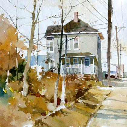 Behind Dawson, watercolor by W. Vrscak