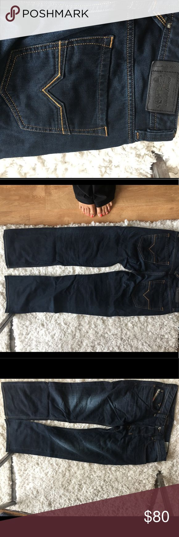 """Men's Larkee Diesel Jeans- brand new Diesel straight leg jeans. Bought for my husband- Perfect condition, worn once. Dark wash. 32"""" inseam. Size 30. Diesel Jeans Straight"""