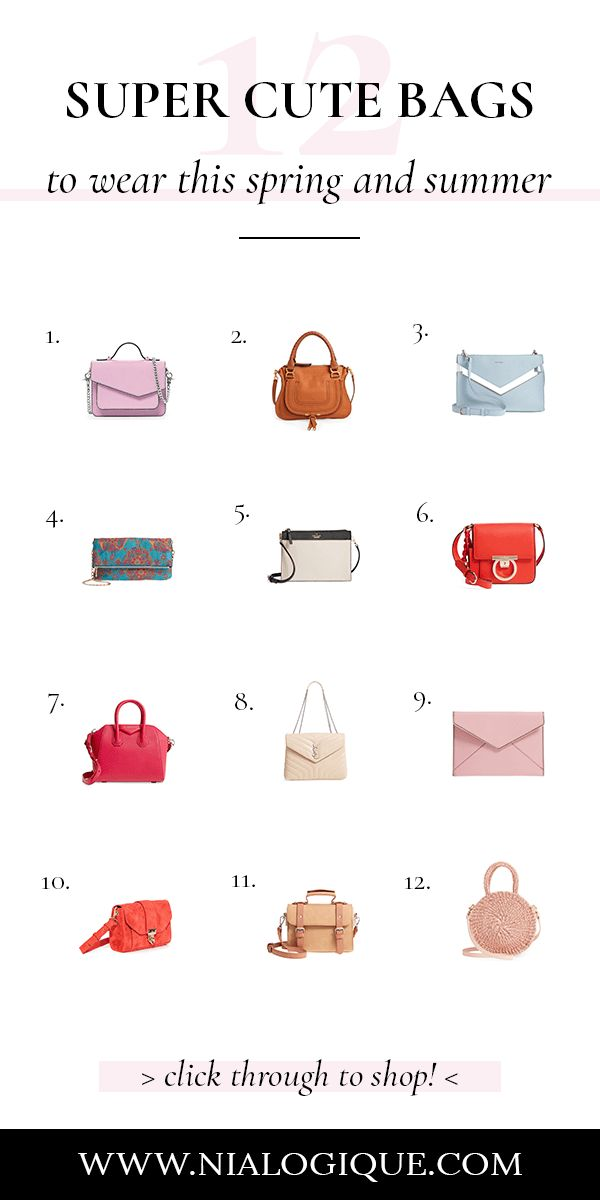 Must-Have Bags For Spring and Summer | best purses, style tips, crossbody bags, shoulder bags, satchels, clutch, top handbags, fashion tips, styling tips, how to style, style guide, style advice, style ideas, fashion infographic, style infographic