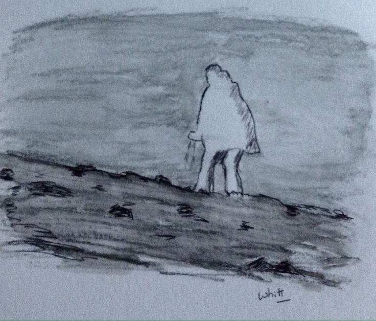 Daily Drawing #181, Feeling Like A Man In The Wilderness | Inspire Art