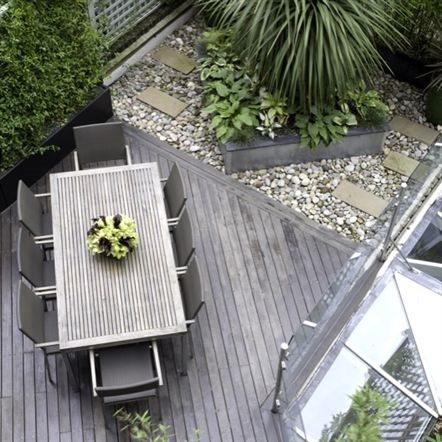 Birds eye view of courtyard.  Image from Helen Green.