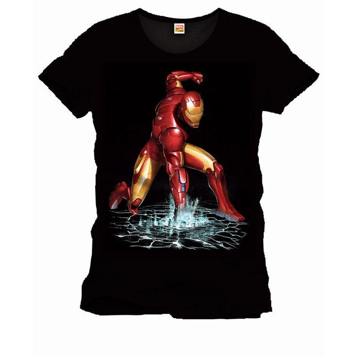 Tee-Shirt Noir Strong Fist Iron Man