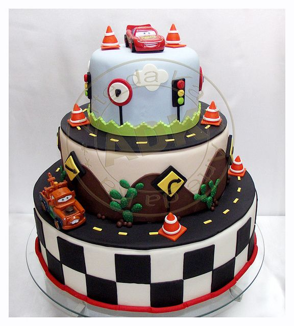Cars cake-Kingston would go crazy for this!
