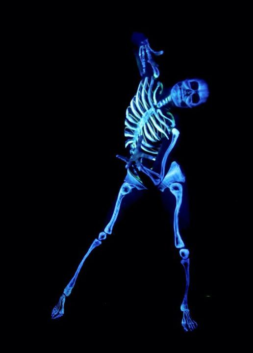Fluorescent Ink Skeletal Study with model Aimee Funk - BLVisuals