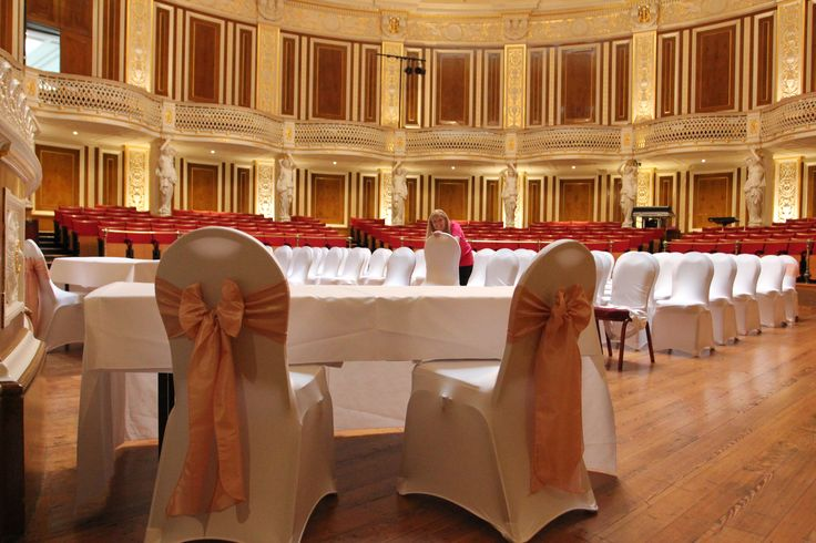Beautiful chair covers in a stunning venue. St Georges Hall.