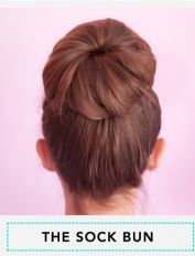 Must Pin and Try!  Sock Bun tutorial!  So easy and looks great!