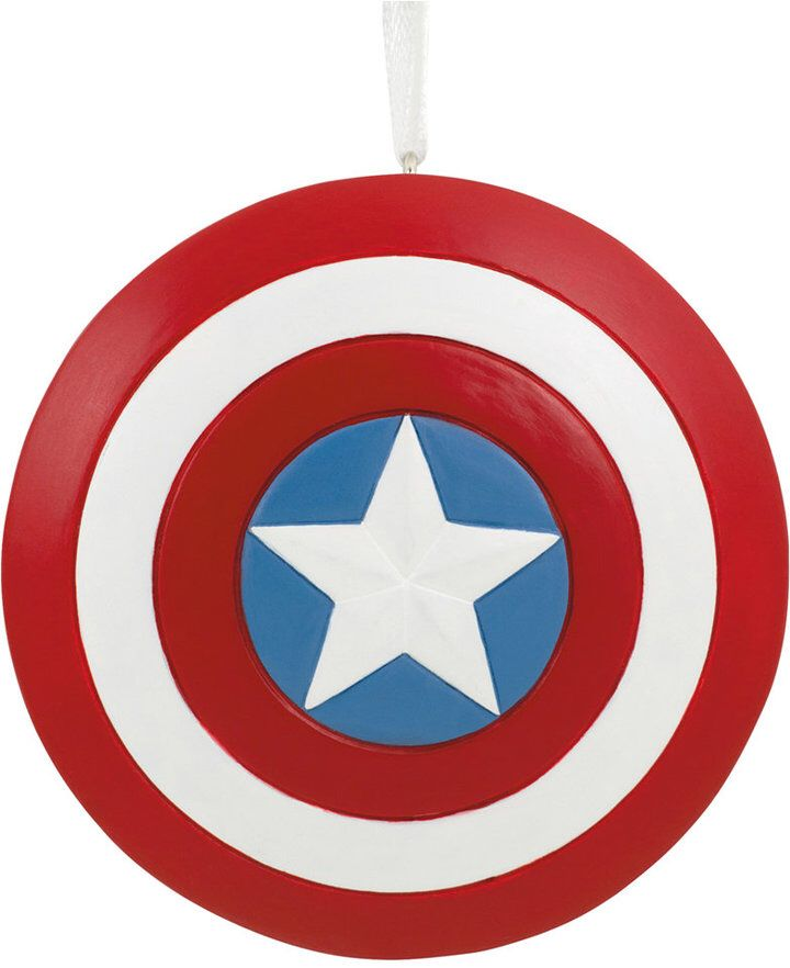 Hallmark Resin Figural Captain America Shield Ornament #ad