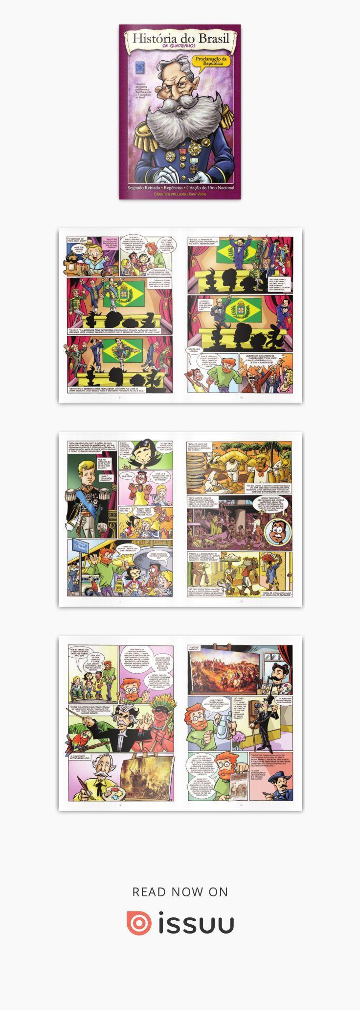 História do Brasil em Quadrinhos  HQ História do Brasil em Quadrinhos: Proclamação da República