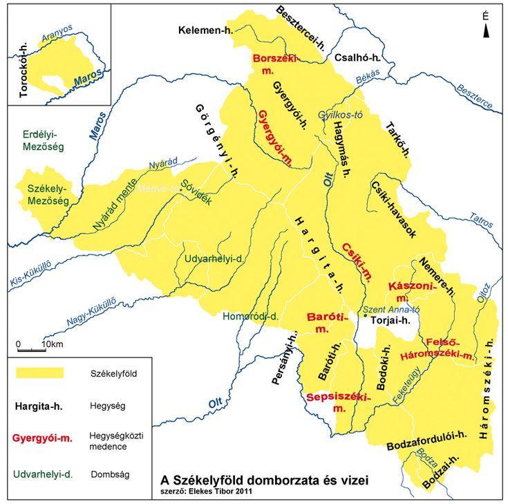 A Székelyföld domborzata és vizei