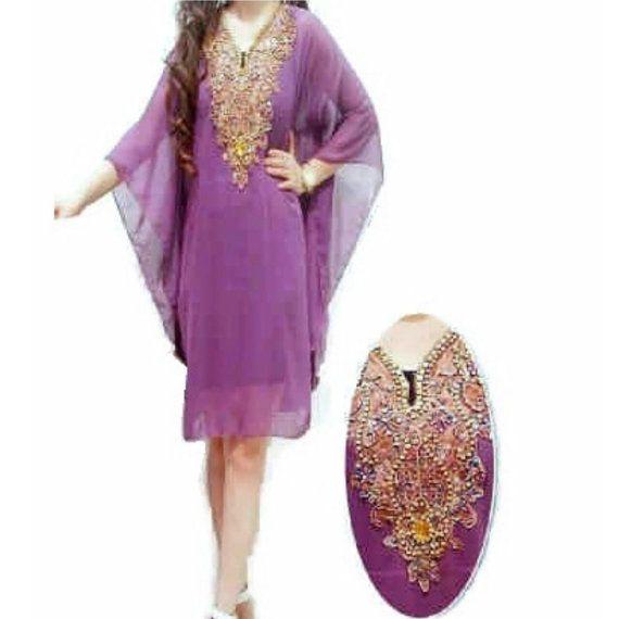 Beautiful Indonesian Beaded Tunic especially by Kaftan4Shorties