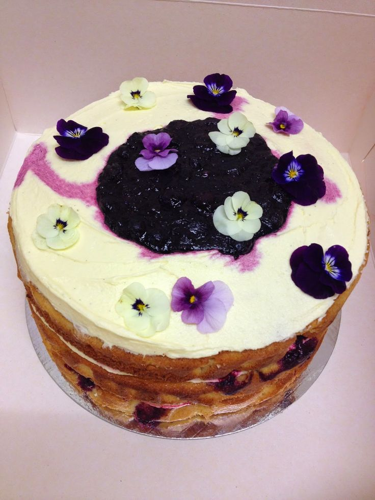 TRIPLE LAYER ORANGE, BLUEBERRY AND WHITE CHOCOLATE CAKE WITH MAPLE CREAM CHEESE ICING