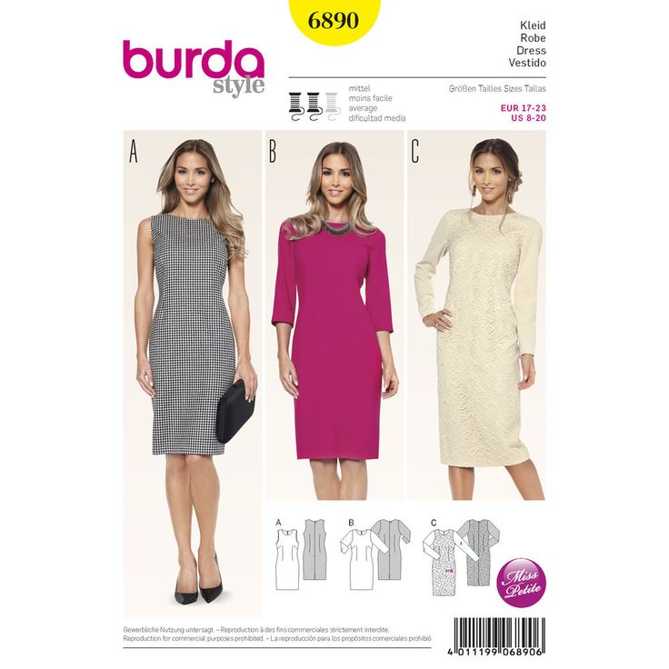 67 best Sewing: dress patterns images on Pinterest | Schnittmuster ...