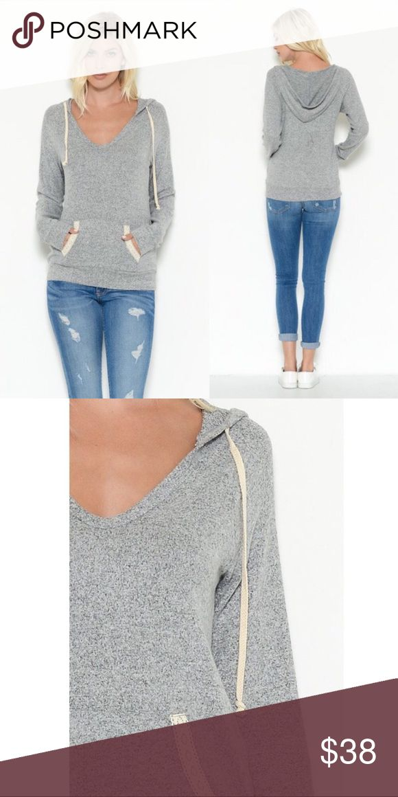 NWT SUPER SOFT GORGEOUS HOODY WITH POCKETS NWT gorgeous hoody with pockets! I love this top kept the small but still have a medium and a large. They are so flattering and looks great with jeans. Pockets have a delicate lace detail. Tops Sweatshirts & Hoodies