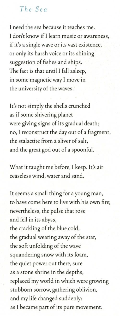 The Sea, Pablo Neruda