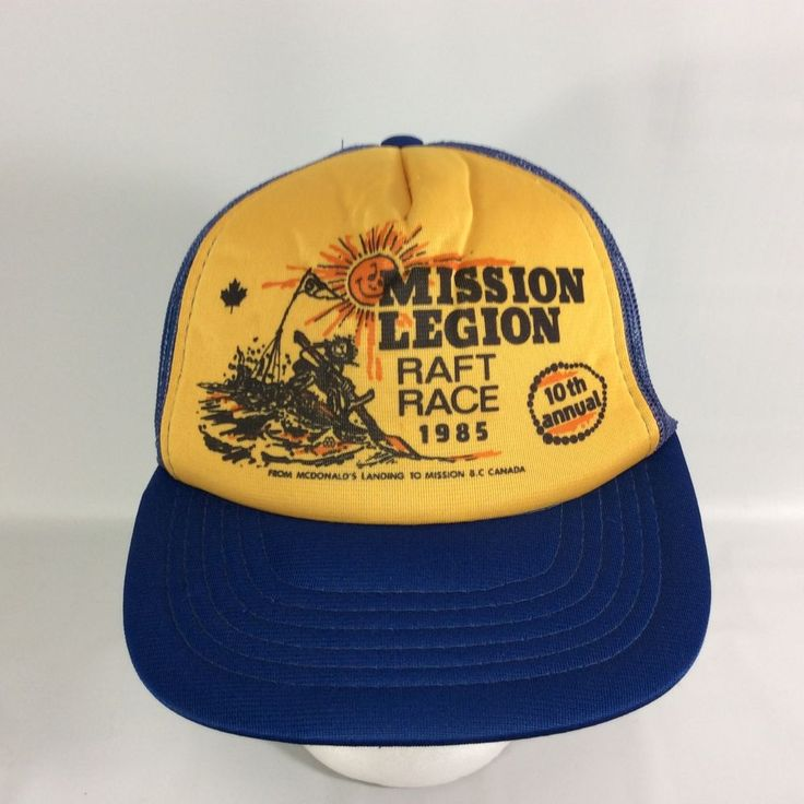 Royal Canadian Legion RCL Branch 10 Mission Snap Back Raft Race Trucker Hat 85 #Unbranded #TruckerHat