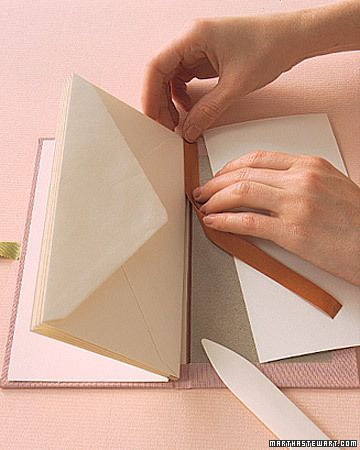 Easy envelope book. Would make a good travelogue with plenty of room for ticket stubs, brochures, etc.