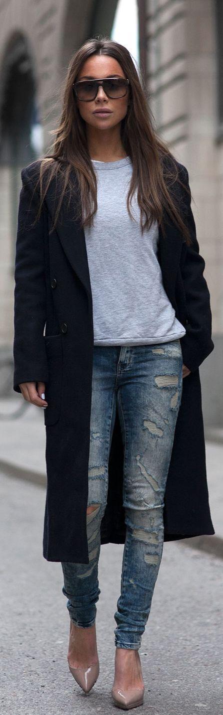 Best 25  Black coats ideas on Pinterest | Coats, Black wool coat ...