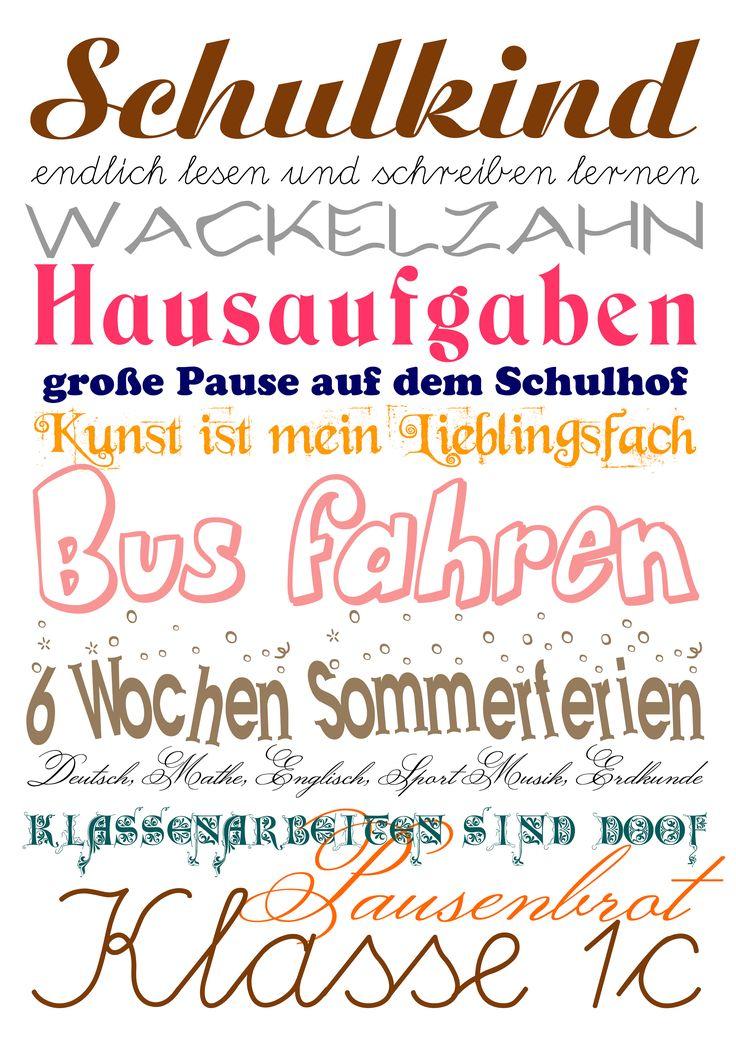 #Schulanfang zum Ausdrucken |by Jane Carrot